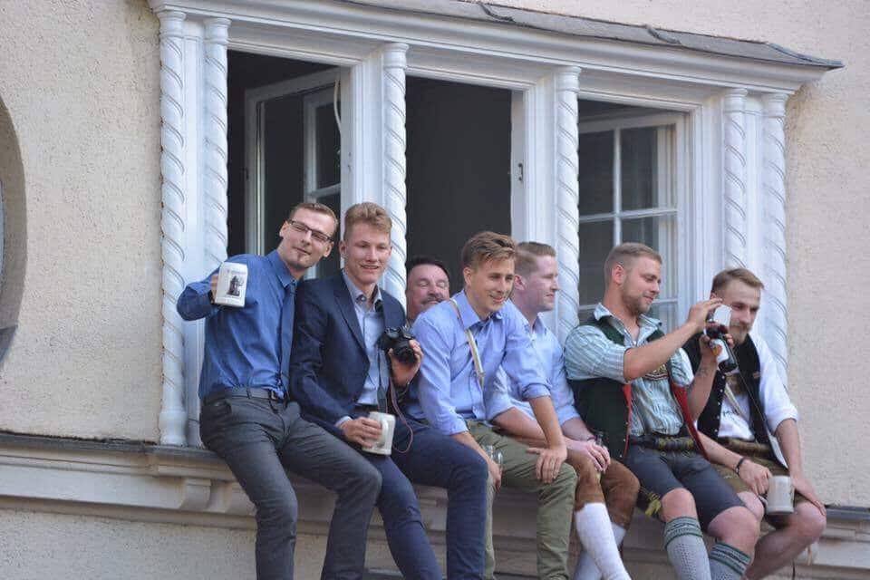 Juli 2017: Benjamin Nolte beobachtet vom Danuben-Haus aus